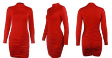 Electric Red Drama Dress (up to 1X)