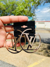LV  Hoop Earrings (Silver & Gold)