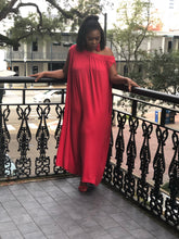 Red, Off Shoulder Jumpsuit with Pockets