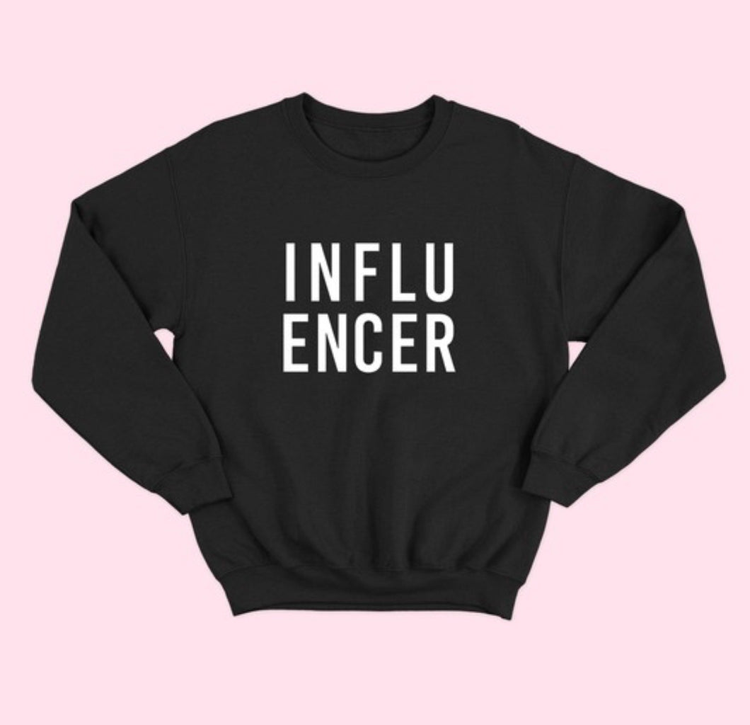 Plus Black-Influencer Sweatshirt