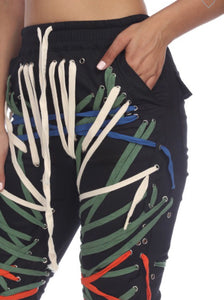 Strung  Up Tied Pants (Color)