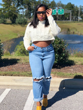 Denim Rip Knee Boyfriend Jeans