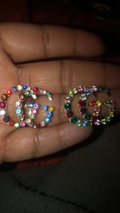 GG Rainbow Stud Earrings