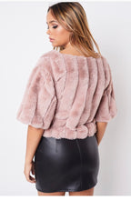 Mauve Color Faux Fur Top