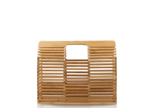 Wood Square Purse