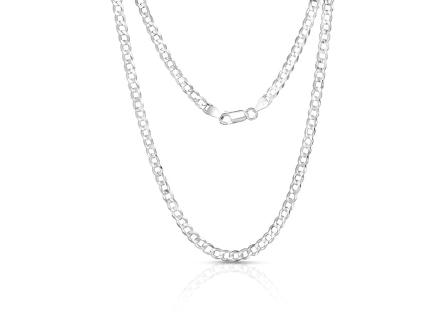 Puff Sterling Silver Curb Chains