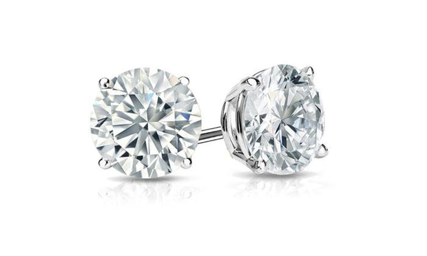 Classic Sterling Silver Solitaire Studs