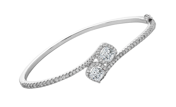 CZ Cushion Halo Bangle