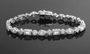 18K White Gold Plated Tennis Bracelets