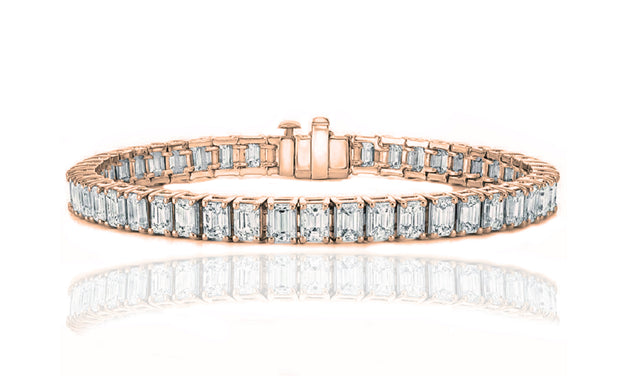 Luxury Emerald Cut Tennis Bracelet