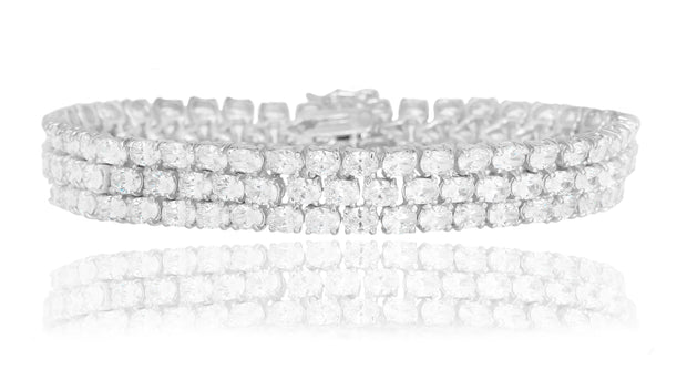 Luxe Triple Oval Tennis Bracelet