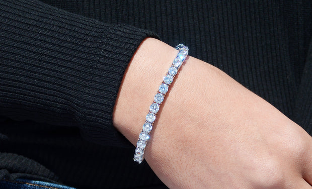 52.00 CTTW Luxury Tennis Bracelet Made with Crystals