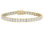 Princess Cut Crystal Tennis Bracelet