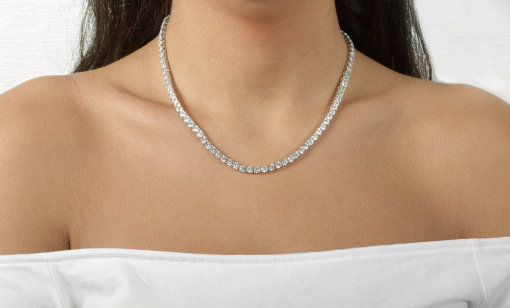 Cubic Zirconia Tennis Necklace Collection