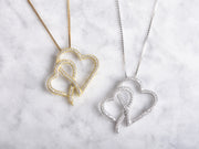 Connected Hearts CZ Necklace