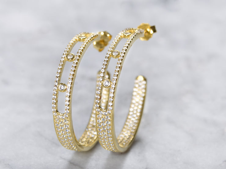 Love Hoop Earrings