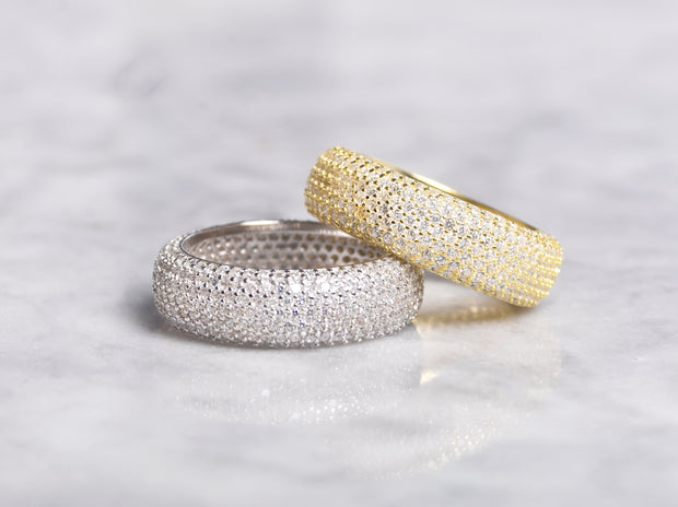 Puff Micro Pave CZ Eternity Band