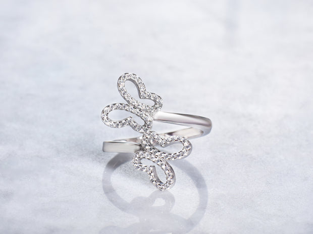 Floating Butterflies Ring