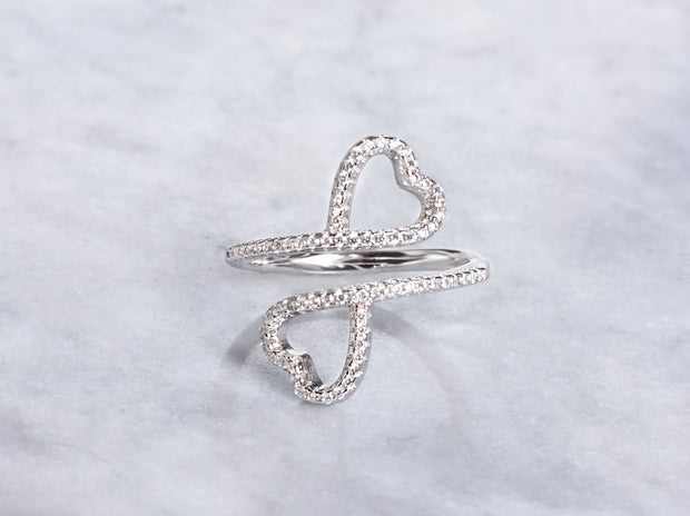 Floating Hearts Ring