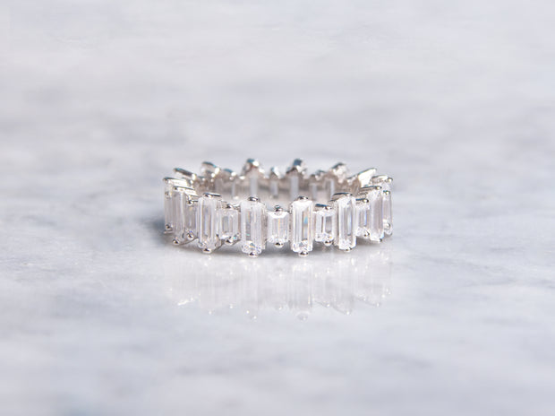 Staggered Baguette Eternity Ring