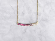 Pink Ombre Bar Necklace