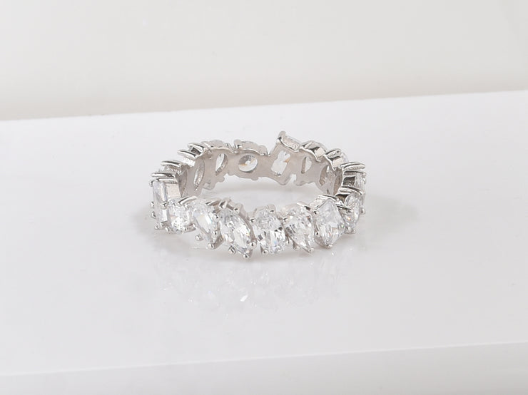 Multi Shaped Eternity Band Ring