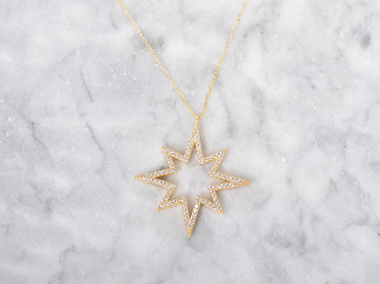 Statement CZ Star Necklace