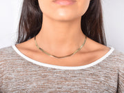 Gold Plated Herringbone Necklace