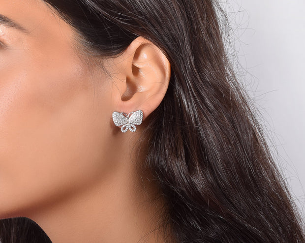 Bold Butterfly CZ Earrings