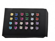Multi Color 12 Pack Earring Set