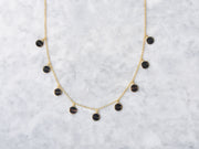 Enamel Disc Drop Necklace