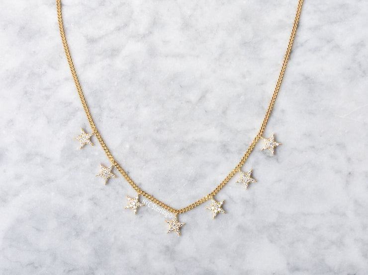 CZ Star Drop Necklace