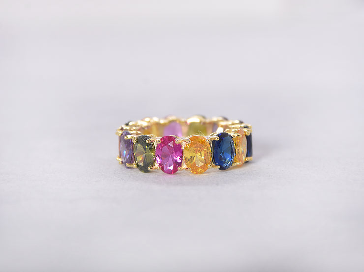 Alexis Multicolored Oval Eternity Ring