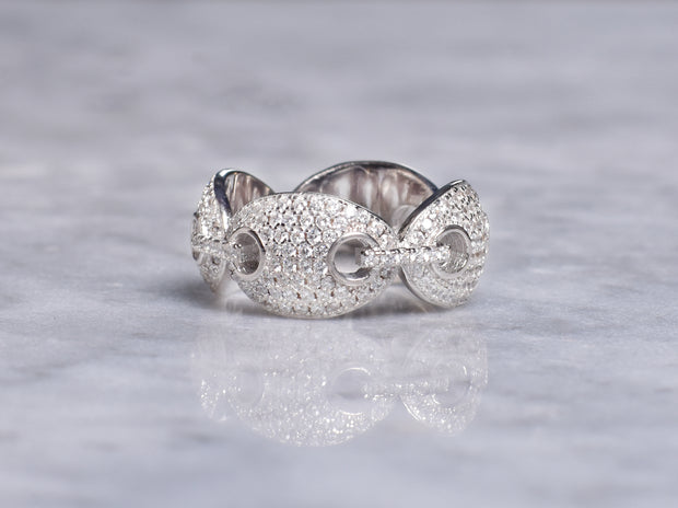 Marina Chain Style CZ Ring