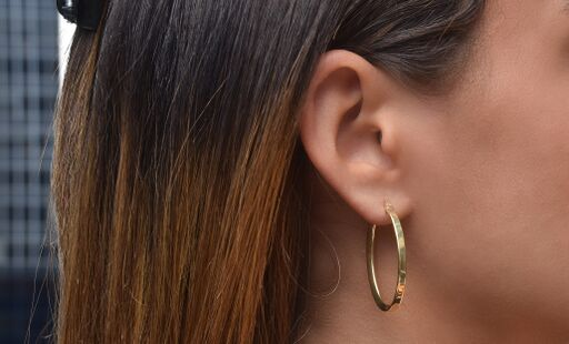 Stella Oval Hoop Earrings