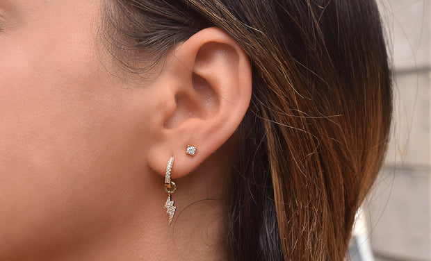 Lightning Bolt Hanging Earring