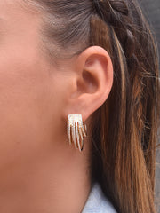 Evelyn CZ Layered Earrings
