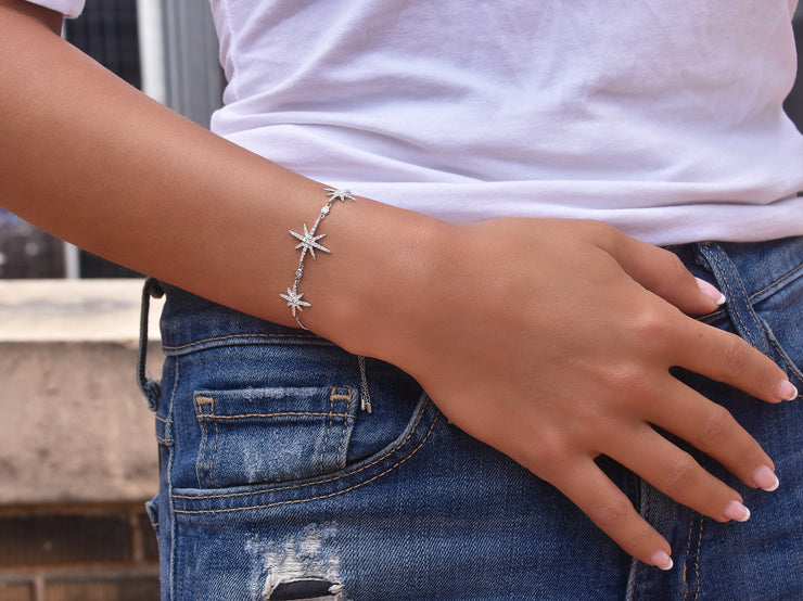 Dainty 3 Star Adjustable Bracelet