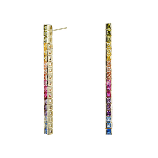 Rainbow Princess Drop Earrings