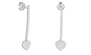 Cubic Zirconia Bar Drop Dangle Earrings