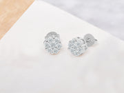 Cluster Flower Stud Earrings