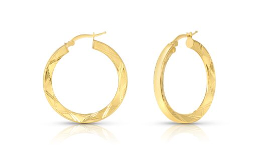 Geometric Designed Hoop Earrings