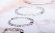 Sterling Silver In and Out Crystal Hoops