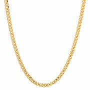 Sterling Silver Gold Plated 4mm Miami Cuban Chain Necklace