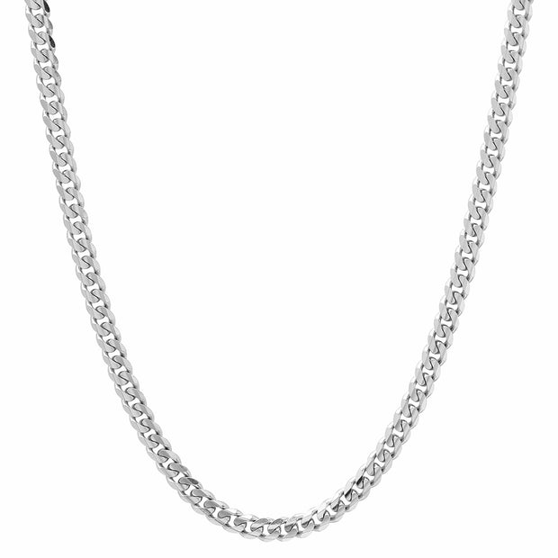 Sterling Silver 4mm Miami Cuban Chain Necklace