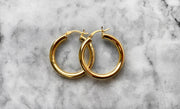 Classic Round Tube Hoop Earrings