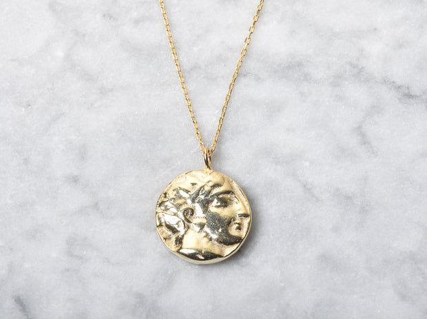Greek Coin Pendant Necklace