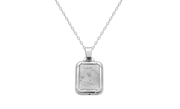 Sterling Silver Guardian Angel Charm Necklace
