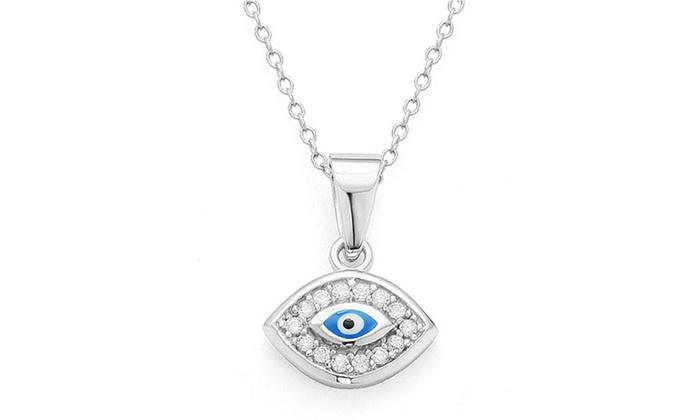 Classic Evil Eye Pendants in Sterling Silver