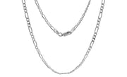 Sterling Silver 080 Figaro Chain Necklace